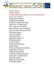 Monte Castelo Legião Urbana Composição: Renato Russo (recortes ...