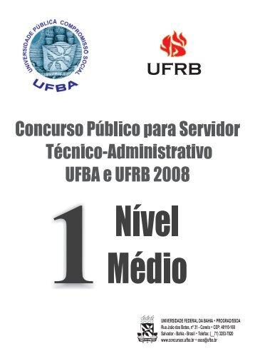 Prova Nível Médio - Concursos - Universidade Federal da Bahia