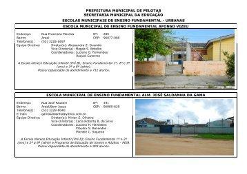 Lista de Escolas Municipais - Prefeitura Municipal de Pelotas
