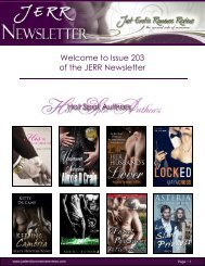 Welcome to Issue 203 of the JERR Newsletter