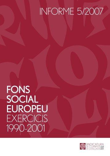 Informe 5/2007 - Generalitat de Catalunya
