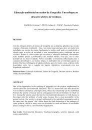 Educação ambiental no ensino da Geografia: Um enfoque ao