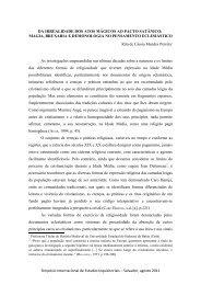 DA IRREALIDADE DOS ATOS MÁGICOS AO PACTO ... - UFRB