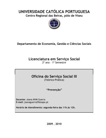 ProgramaOFSS III 09-10.pdf - Molar - Universidade Católica ...
