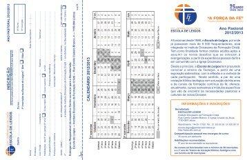 Folheto EL 2012-13.pdf - Instituto Diocesano da Formação Cristã