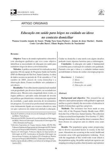 Educação em saúde para leigos no cuidado ao idoso no contexto ...