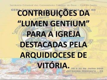 lumen gentium - Diocese Cachoeiro