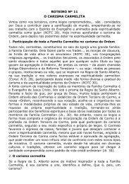 11 O carisma carmelita - Ordem do Carmo de Faro