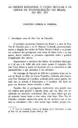 AS ORDENS RELIGIOSAS, O CLERO SECULAR E OS LEIGOS NA ...