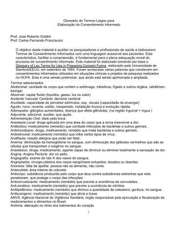 Glossário de Termos Leigos para Elaboração do ... - UFTM