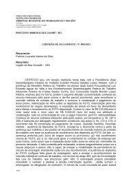 Recorrente: Patricia Louzada Vianna da Silva Recorrido: Legião da ...