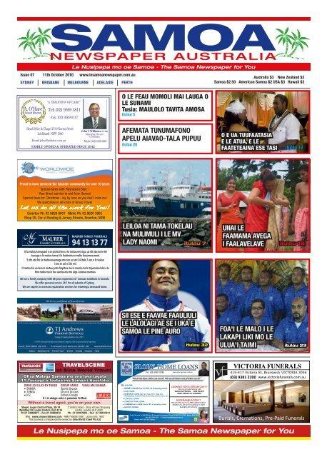 Issue 7 Le Samoa Newspaper Australia