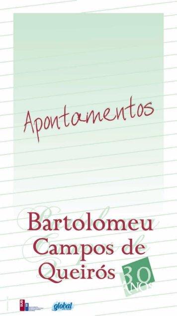Apontamentos - Bartolomeu Campos Queirós - Secretaria de Estado ...