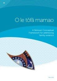 Read the Samoan Conceptual Framework (PDF 572.37KB)