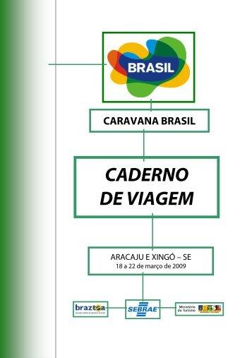 CADERNO DE VIAGEM - Ministério do Turismo