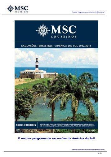 O melhor programa de excursões da América do Sul!