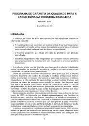 PROGRAMA DE GARANTIA DA QUALIDADE PARA A CARNE ...