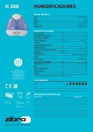 H 208 HUMIDIFICADORES - Manual