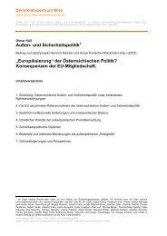Außen- und Sicherheitspolitik - Demokratiezentrum Wien