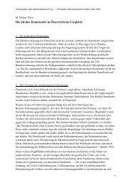 Manfred Welan: Die direkte Demokratie in Österreich im Vergleich
