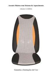 Assento Shiatsu com Sistema de Aquecimento - Relaxmedic
