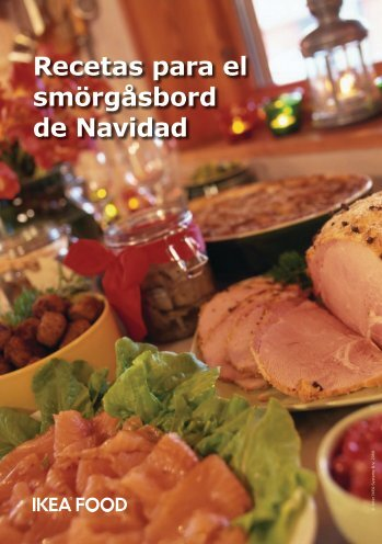 Recetas para el smörgåsbord de Navidad - Ikea