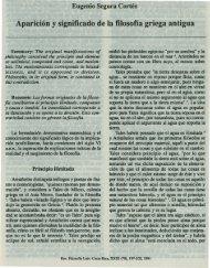Aparicion y Significado de la Filosofia Griega Antigua - Instituto de ...