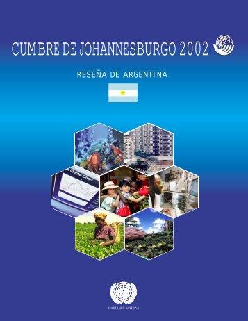 CUMBRE DE JOHANNESBURGO 2002 - Naciones Unidas