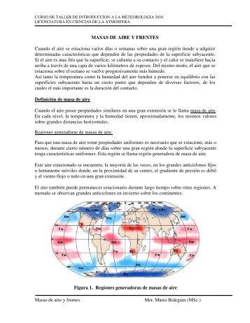 Masas de aire y frentes - Unidad de Ciencias de la Atmósfera