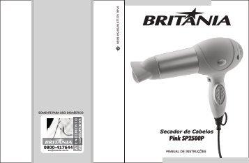 499 05 00 Rev0 Folheto de Instruções Secador Pink ... - Britânia