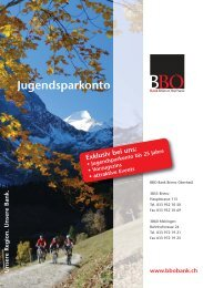 Jugendsparkonto - Bank Brienz Oberhasli