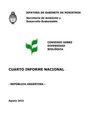 CBD Fourth National Report - Argentina (Spanish version)