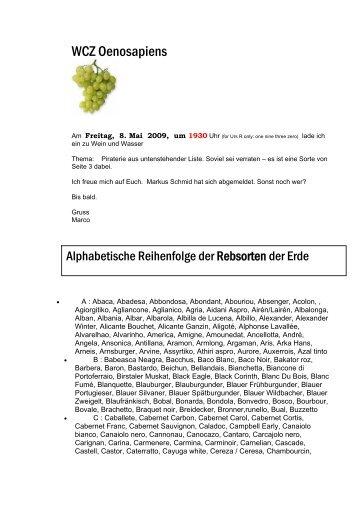 WCZ Oenosapiens - MFFA