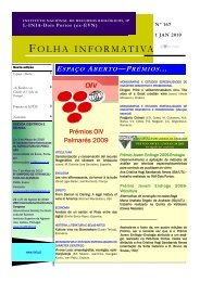 Folha informativa n.º 167 de INIA - Dois - Instituto dos Vinhos do ...