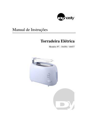 Manual de Instruções Torradeira Elétrica