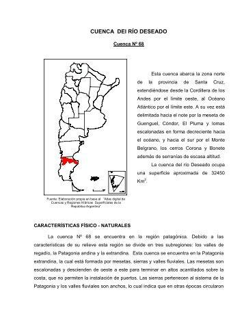 CUENCA DEl RÍO DESEADO - Subsecretaría de Recursos Hídricos