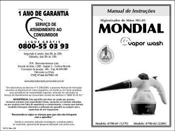 Manual Higienizador de Mãos HG-01 07-12 Rev00 - Mondial