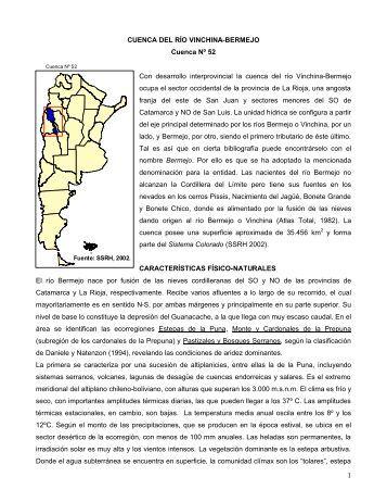 52 cuenca del rio vinchina - bermejo - Subsecretaría de Recursos ...