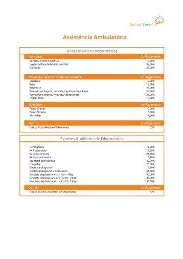 Tabela Co-pagamentos Zona 2 Ambulatório - Webnode