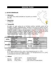 REGION PUNO - Ministerio de Comercio Exterior y Turismo