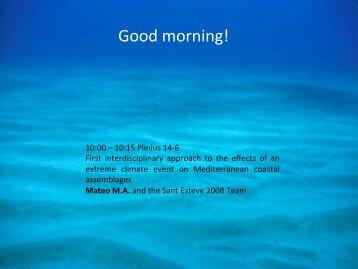 Good morning! - Consejo Superior de Investigaciones Científicas
