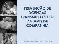 Doenças transmitidas por animais de companhia.