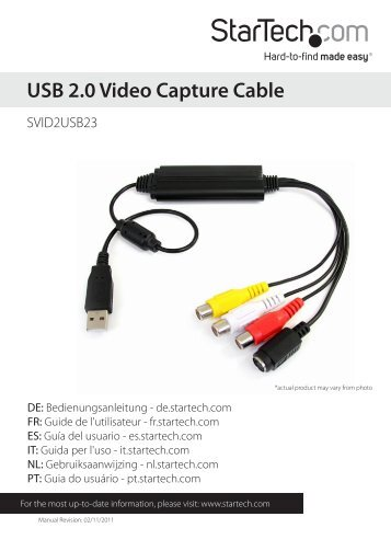 USB 2.0 Video Capture Cable - CCL Computers