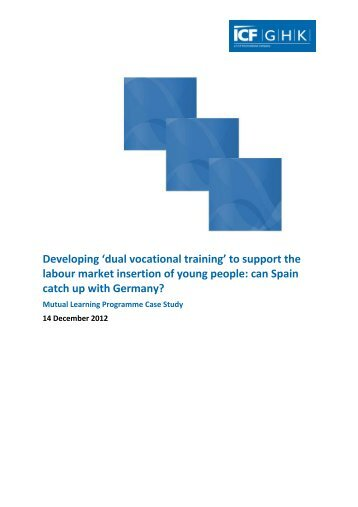 dual vocational training - Mutual Learning Programme