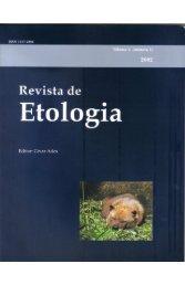 Volume 4, Edição 1, 2002 - Sociedade Brasileira de Etologia