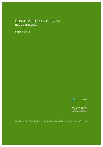 03. Guia del solicitante 2012_D3 - Cyted