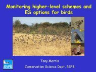 Monitoring higher-level schemes and ES options ... - Natural England