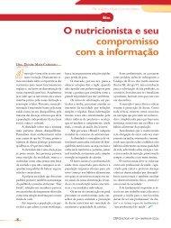 O nutricionista e seu compromisso com a informação - Conselho ...