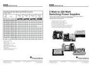 5 Watt to 320 Watt Switching Power Supplies - bei ESE Elektronik AG