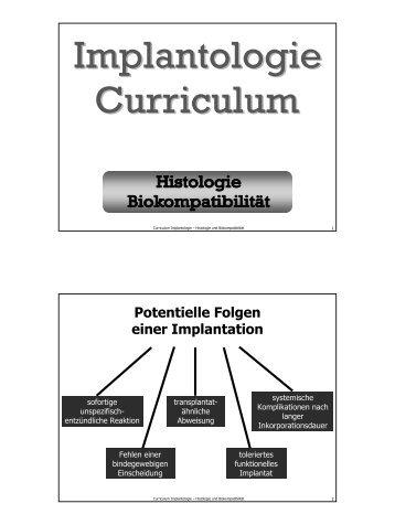 Implantologie-Curriculum 06 - Histologie